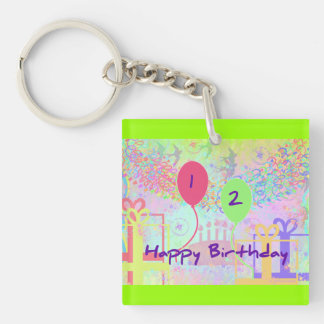 Child Happy Birthday Two Years Old Key Chain