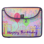 Child Happy Birthday Two Years Old Sleeve For MacBooks