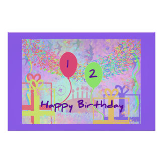 Child Happy Birthday Two Years Old Posters