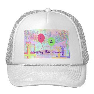 Child Happy Birthday Two Years Old Trucker Hat