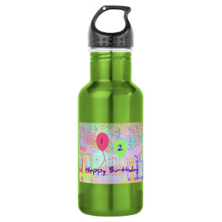 Child Happy Birthday Two Years Old Water Bottle