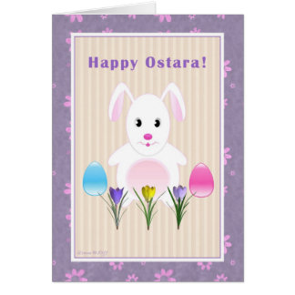 Child - Happy Ostara - Ostara Bunny Card