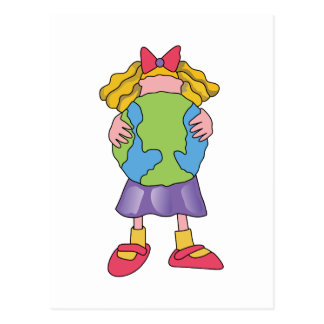 CHILD HOLDING EARTH POSTCARD