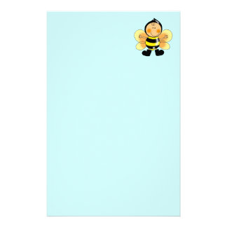 Child in a bee costume custom stationery