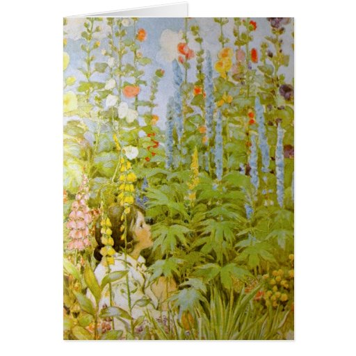 Child in a Garden Greeting Card