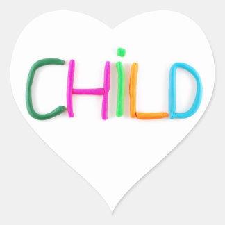 Child in Clay Heart Sticker