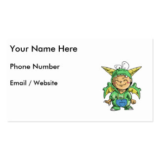 Child in Cute Dragon Costume Double-Sided Standard Business Cards (Pack Of 100)