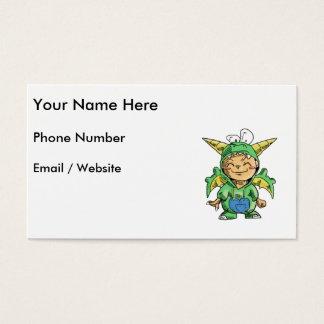 Child in Cute Dragon Costume Business Card
