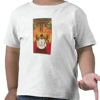 Child in Front of Fireplace T Shirt