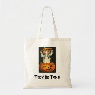 child in jackolantern canvas bags