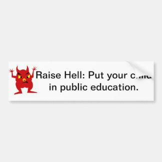 Child in public education bumper sticker