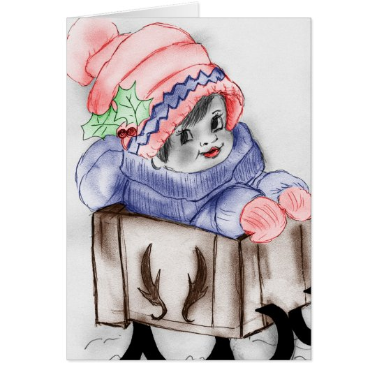 Child In Sleigh Card