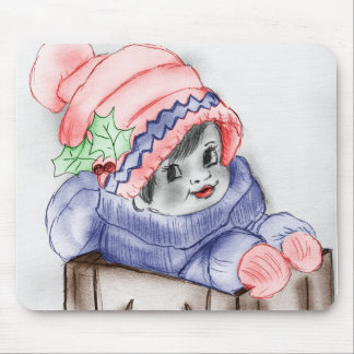 Child In Sleigh Mouse Pad