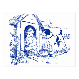 (Child) In the Dog House Postcard