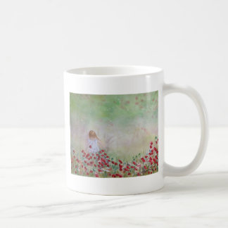 Child In the field of flowers Coffee Mug