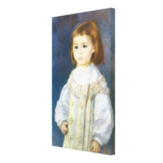 Child in White by Pierre Auguste Renoir Canvas Print