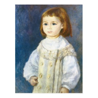 Child in White by Pierre Auguste Renoir Postcards