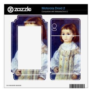 Child in White by Pierre Renoir Motorola Droid 2 Skin