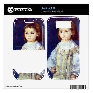 Child in White by Pierre Renoir Decals For Nokia E63