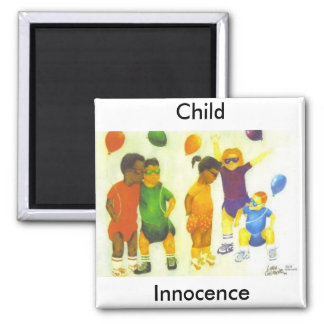 Child Innocence 2 Inch Square Magnet