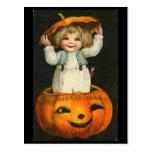 Child inside Pumpkin Post Cards