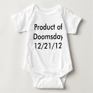 Child is a product of doomsday baby bodysuit