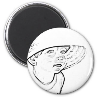 Child Is like flower 2 Inch Round Magnet