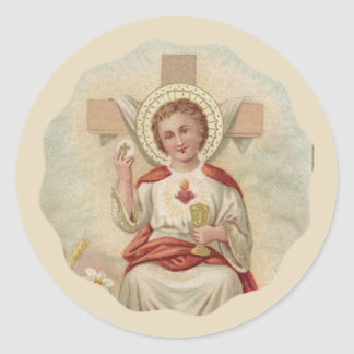 Child Jesus w/Chalice & Host Classic Round Sticker