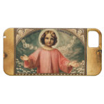 CHILD JESUS WITH ANGELS, Brown Parchment iPhone 5 Covers