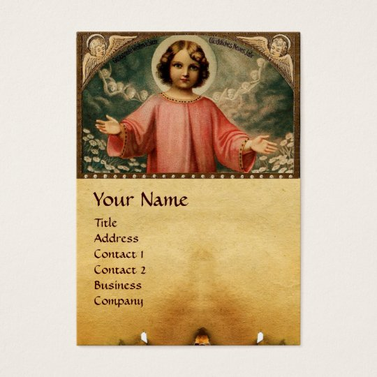 CHILD JESUS WITH ANGELS BUSINESS CARD