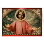 CHILD JESUS WITH ANGELS CARD