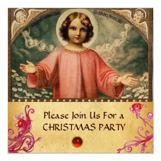 CHILD JESUS WITH ANGELS,  Parchment Card