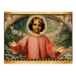 CHILD JESUS WITH ANGELS,  Parchment Post Cards