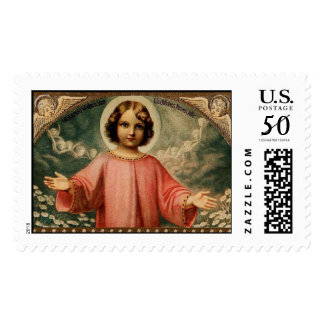 CHILD JESUS WITH ANGELS POSTAGE