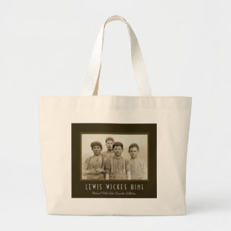 Child Labor in America - Lewis Wickes Hine Large Tote Bag