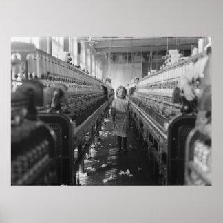 Child Laborer in the Mollohan Mills Newberry S.C. Print