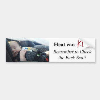Child Left in Hot Car Danger of Death Reminder Bumper Sticker