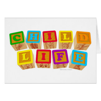 "Child Life ""Blocks"" Notecards Greeting Card"