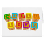 "Child Life ""Blocks"" Notecards Greeting Card"