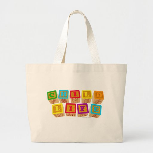 Child Life Blocks totebag Tote Bags