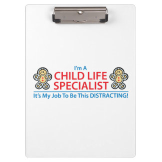 Child Life Specialist Distracting Clipboard
