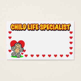 Child Life Specialist Gingerbread Business Card