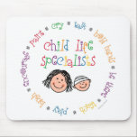 "Child Life Specialists Mousepad<br><div class=""desc"">Our classic design on a durable mousepad!  A great way to promote your CLS program.  Easy to customize,  too.  Get one for every computer user on your list!</div>"