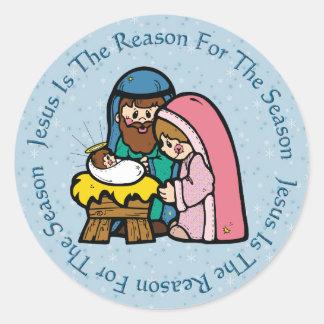 Child Like Manger / Jesus Reason Stickers