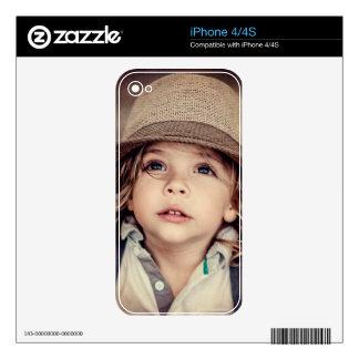 Child Looking up Girl Hat Vintage Portrait iPhone 4 Decals