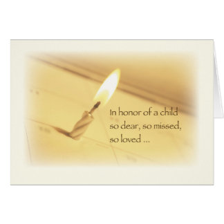 Child Loss Birthday, In Remembrance Card