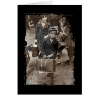 Child Lugging a Suitcase Card
