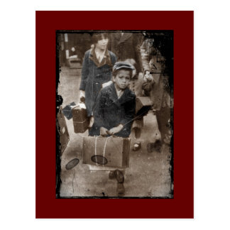 Child Lugging a Suitcase Postcard