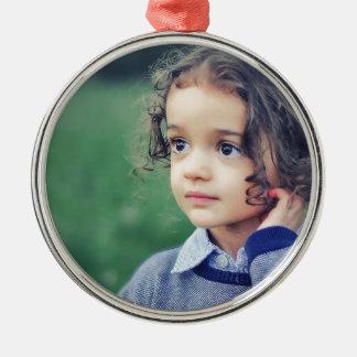 child metal ornament