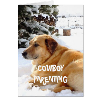 Child Nursing Tips Cute Dog - Cowboy Parenting Card